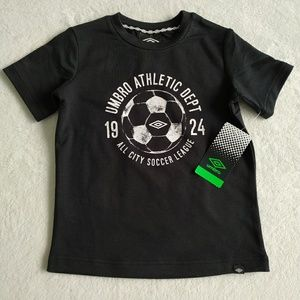 Umbro Boys' French Terry Graphic T-Shirt - Black